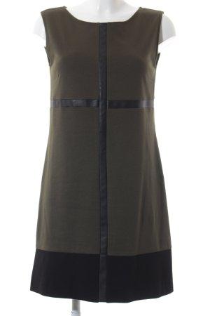 Ana Alcazar Etuikleid dunkelgrün-schwarz schlichter Stil