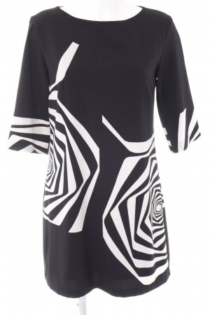 Ana Alcazar Manteljurk zwart-wit abstract patroon casual uitstraling