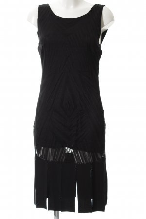 Ana Alcazar Abito con frange nero modello misto elegante