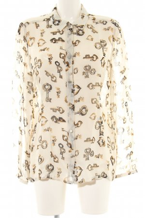 Ana Alcazar Shirt Blouse natural white-brown allover print business style