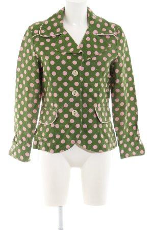 Ana Alcazar Jersey Blazer green-natural white spot pattern vintage look