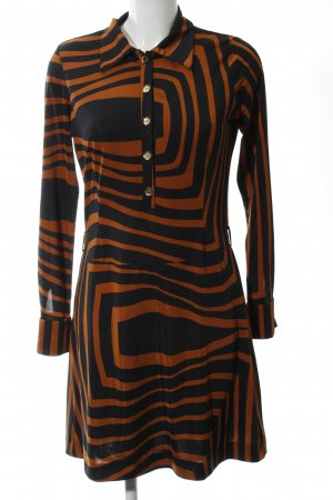 Ana Alcazar Jersey Dress black-light orange abstract pattern casual look