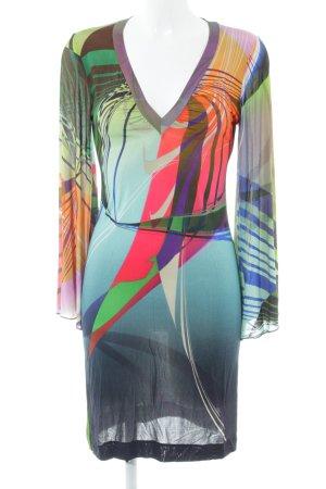 Ana Alcazar Abito jersey motivo grafico stile stravagante