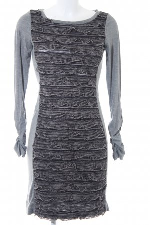 Ana Alcazar Jersey Dress grey-black loosely knitted pattern casual look