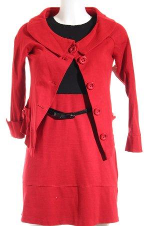 Ana Alcazar Jerseykleid rot-schwarz Elegant
