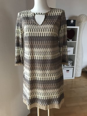 Ana Alcazar Vestido línea A marrón grisáceo-beige