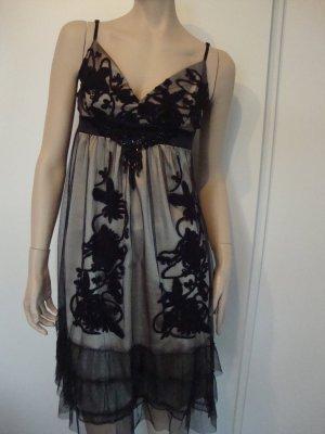 Ana Alcazar Kleid Gr. 34 ital.Gr.38 schwarz/gold 1x getragen sehr hübsch