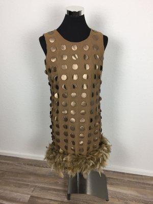 Ana Alcazar Vestido de baile marrón arena
