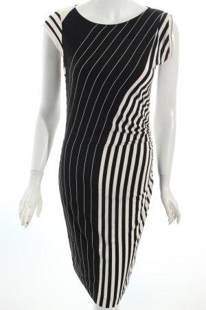 Ana Alcazar Kleid schwarz-weiß Streifenmuster