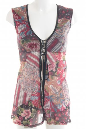 Ana Alcazar Blusa de manga corta estampado con diseño abstracto
