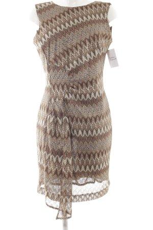 Ana Alcazar Shortsleeve Dress abstract pattern vintage look