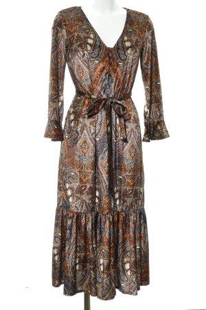 Ana Alcazar Longsleeve Dress abstract pattern '20s style