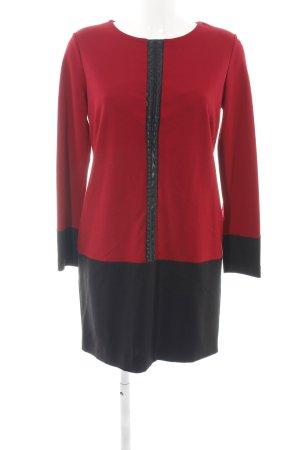 Ana Alcazar Jurk met lange mouwen rood-zwart zakelijke stijl