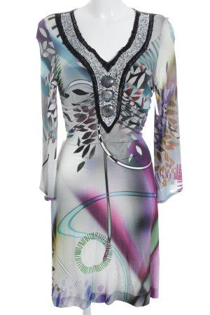 Ana Alcazar Langarmkleid florales Muster Gypsy-Look