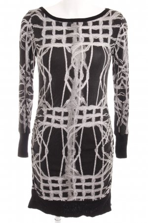 Ana Alcazar Longsleeve Dress black-silver-colored abstract pattern casual look