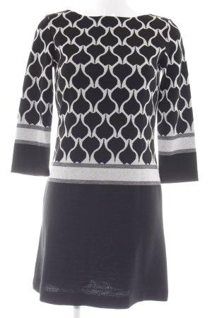 Ana Alcazar Vestido de manga larga negro-blanco Mezcla de patrones