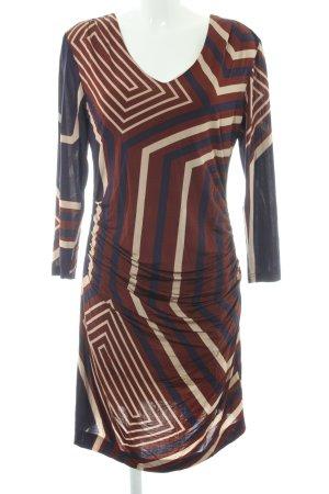 Ana Alcazar Jurk met lange mouwen gestreept patroon Jaren 70 stijl