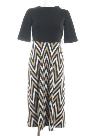 Ana Alcazar Jurk met lange mouwen zigzag patroon elegant
