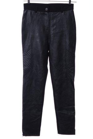 Ana Alcazar Leather Trousers black casual look