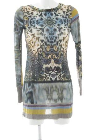 Ana Alcazar Lang shirt abstract patroon extravagante stijl