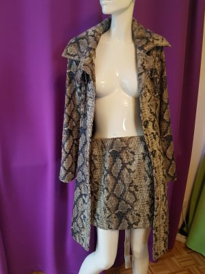 Ana Alcazar Short Coat multicolored reptile leather