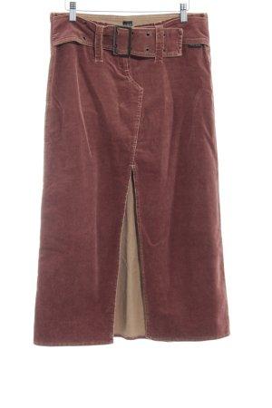 Ana Alcazar Maxi rok roodbruin klassieke stijl