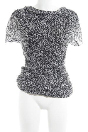 Ana Alcazar Midikleid schwarz-weiß grafisches Muster Elegant