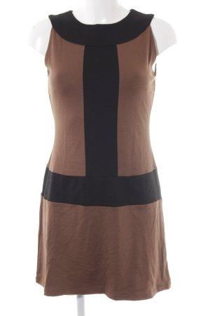 Ana Alcazar Mini Abito nero-marrone chiaro stile casual