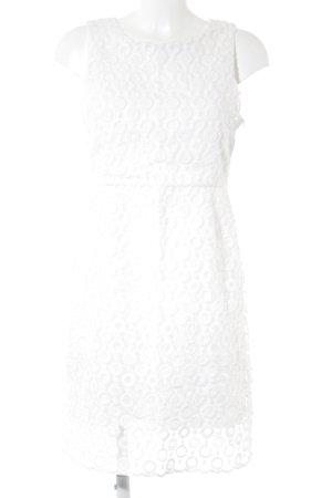 Ana Alcazar Minikleid weiß Punktemuster schlichter Stil