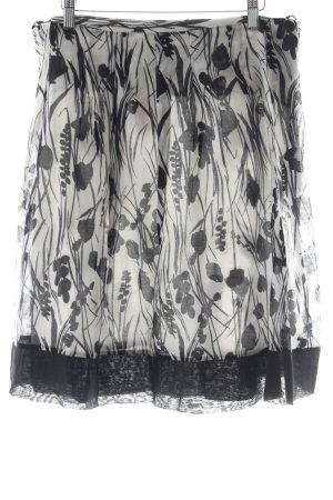 Ana Alcazar Minirock schwarz-weiß florales Muster Casual-Look