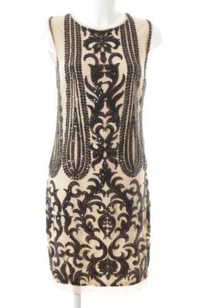 Ana Alcazar Sequin Dress nude-black embellished pattern wet-look
