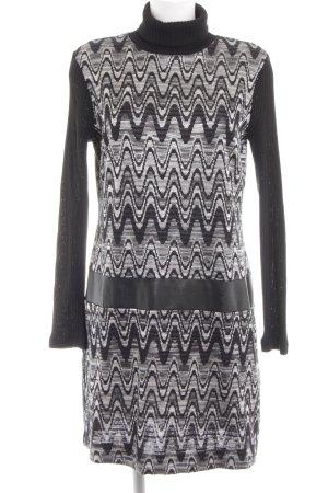 Ana Alcazar Sweater Dress black-light grey mixed pattern casual look