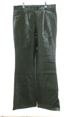 Ana Alcazar Broek met wijd uitlopende pijpen khaki extravagante stijl