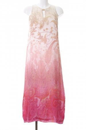 Ana Alcazar Off-The-Shoulder Dress cream-pink abstract pattern casual look