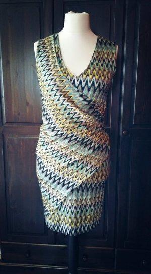 Ana Alcazar Sommer Kleid 40 (eher 38) kurz ohne Arm gelb türkis schwarz