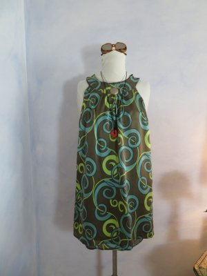 Ana Alcazar Babydoll-jurk veelkleurig Zijde