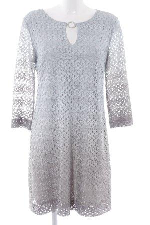 Ana Alcazar Kanten jurk lichtblauw-grijs kleurverloop elegant