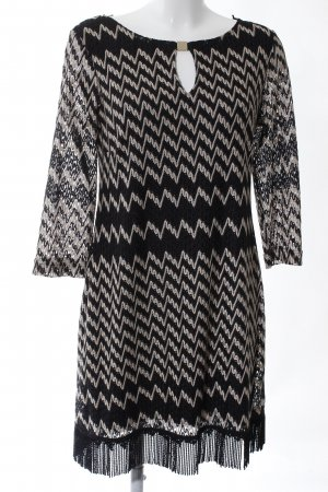 Ana Alcazar Lace Dress black-natural white allover print business style