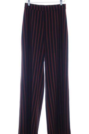 Ana Alcazar Pantalón tipo suéter negro-naranja oscuro estampado a rayas