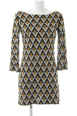 Ana Alcazar Gebreide jurk grafisch patroon Jaren 70 stijl