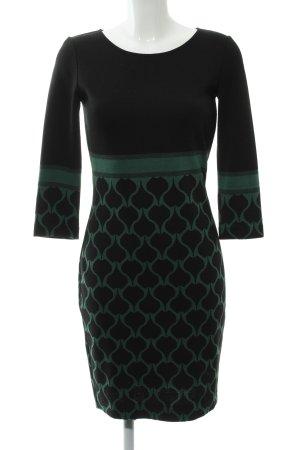 Ana Alcazar Strickkleid schwarz-waldgrün Elegant