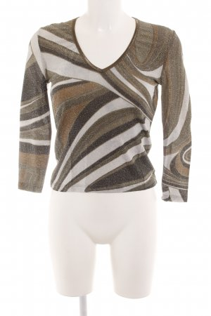Ana Alcazar Knitted Sweater striped pattern glittery