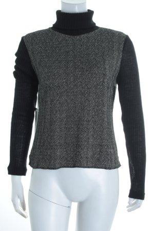 Ana Alcazar Strickshirt schwarz-wollweiß Casual-Look