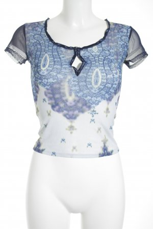 Ana Alcazar T-Shirt mehrfarbig Transparenz-Optik