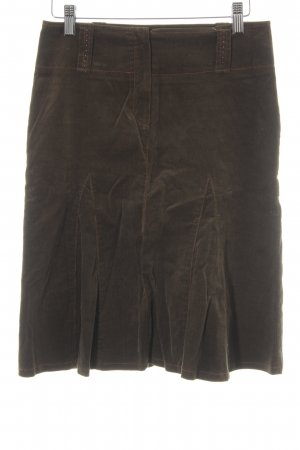 Ana Alcazar Falda circular marrón grisáceo-naranja look casual