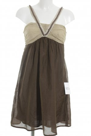 Ana Alcazar Pinafore dress cream-brown party style