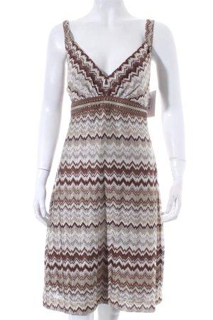 Ana Alcazar Pinafore dress zigzag pattern elegant