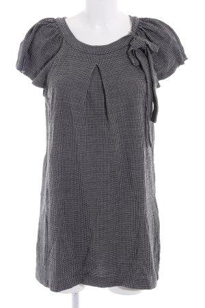 Ana Alcazar Vestito di lana nero-bianco Stampa suggestiva look retrò
