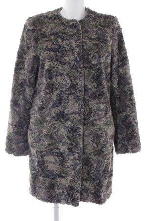 Ana Alcazar Abrigo de lana estampado con puntos de colores mullido
