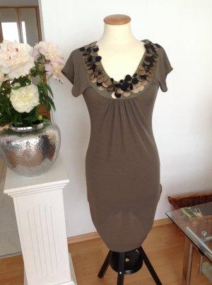Ana Alcazar Sheath Dress ocher polyester